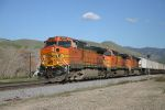 BNSF 5110 Under the Partly-cloudy skies